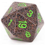 CHESSEX - D20 JUMBO 34 mm - GRANITE Earth --NEW--