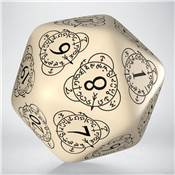 QWORKSHOP - D20 Level Counter - Beige & Black (x1)