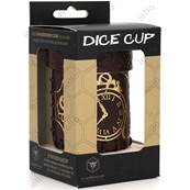 QWORKSHOP - Dice Cups - Steampunk Brown/Golden