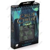 QWORKSHOP - Call of Cthulhu Dice Set - Black & Green (x7)
