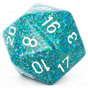 CHESSEX - D20 JUMBO 34 mm - GRANITE Sea --NEW--