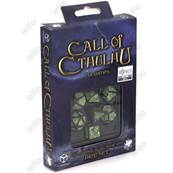 QWORKSHOP - Call of Cthulhu Dice Set - 7th edition Black & Green (x7)