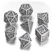 QWORKSHOP - Dwarven Dice Set - Gray & Black (x7)