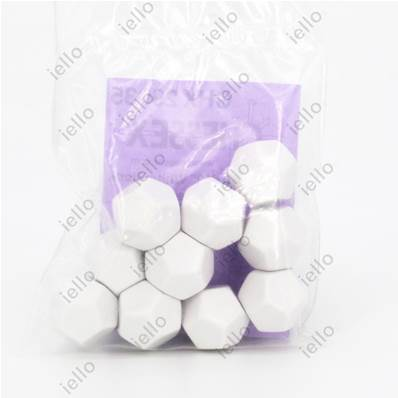 CHESSEX - D12 Vierge (Lot de 10) - OPAQUE Blanc