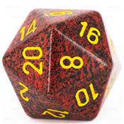 CHESSEX - D20 JUMBO 34 mm - GRANITE Mercury --NEW--