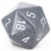 CHESSEX - D20 JUMBO 34 mm - GRANITE Hi-Tech --NEW--