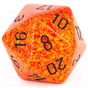 CHESSEX - D20 JUMBO 34 mm - GRANITE Fire --NEW--