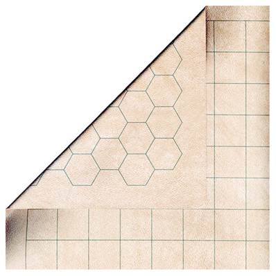 CHESSEX - Battlemat reversible (carré - héxagone) - 60 cm x 66 cm