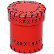 QWORKSHOP - Dice Cups - Red Runic