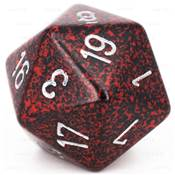 CHESSEX - D20 JUMBO 34 mm - GRANITE Silver Volcano --NEW--