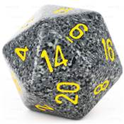 CHESSEX - D20 JUMBO 34 mm - GRANITE Urban Camo --NEW--