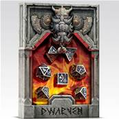 QWORKSHOP - Metal Dwarven Dice Set (x7)