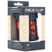 QWORKSHOP - Dice Cups - Flying Dragon Black & Red Leather