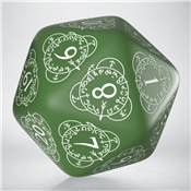 QWORKSHOP - D20 Level Counter - Green & White (x1)