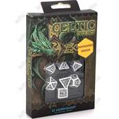 QWORKSHOP - Celtic Dice Set - White & Black (x7)