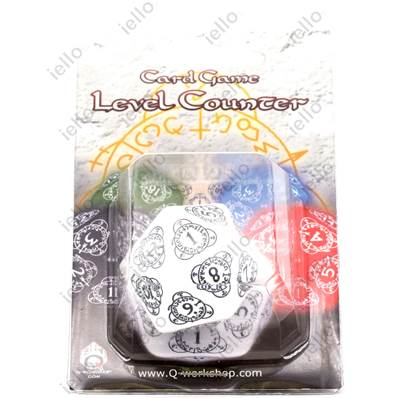 QWORKSHOP - D20 Level Counter - White & Black (x1)