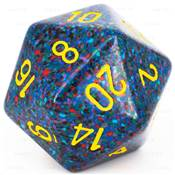 CHESSEX - D20 JUMBO 34 mm - GRANITE Twilight --NEW--