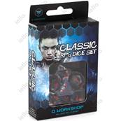 QWORKSHOP - CLASSIC Dice Set - Transparent Blue & Red (x7)