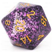 CHESSEX - D20 JUMBO 34 mm - GRANITE Hurricane --NEW--