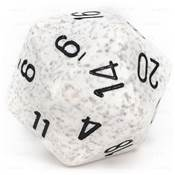 CHESSEX - D20 JUMBO 34 mm - GRANITE Arctic Camo --NEW--