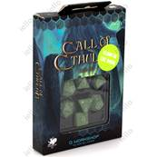 QWORKSHOP - Call of Cthulhu Dice Set - Green & Glow (x7)