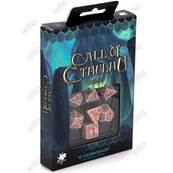 QWORKSHOP - Call of Cthulhu Dice Set - Pink & Black (x7)