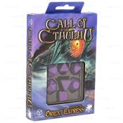 QWORKSHOP - Call of Cthulhu Dice Set - Black & Purple (x7)