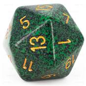 CHESSEX - D20 JUMBO 34 mm - GRANITE Golden Recon --NEW--