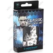 QWORKSHOP - CLASSIC Dice Set - White & Black (x7)