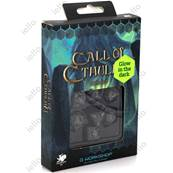 QWORKSHOP - Call of Cthulhu Dice Set - Black & Glow (x7)