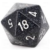 CHESSEX - D20 JUMBO 34 mm - GRANITE Ninja --NEW--