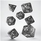 QWORKSHOP - CLASSIC Dice Set - Smoky & White (x7)
