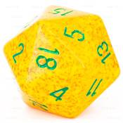 CHESSEX - D20 JUMBO 34 mm - GRANITE Lotus --NEW--