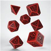 QWORKSHOP - Dwarven Dice Set - Red & Black (x7)