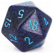 CHESSEX - D20 JUMBO 34 mm - GRANITE Cobalt --NEW--