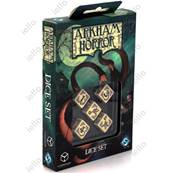 QWORKSHOP - Arkham Horror Dice Set - Beige & Black (x5)