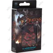 QWORKSHOP - Dragons Dice Set - Red & Black (x7)